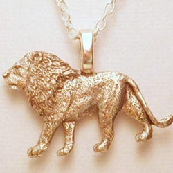 African Lion Necklace 1364 - celtic-mink-jewelry