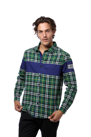 Color Blocked Flannel