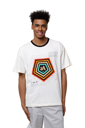 Relaxed Pentagon Tee - White
