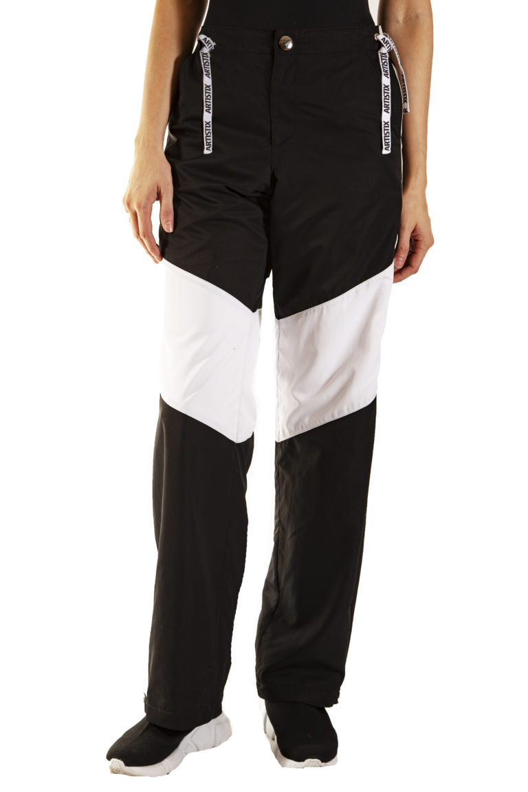 Windbreaker Pants- Black & White