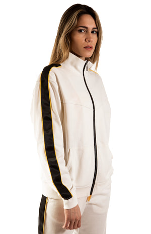 French Terry Track Jacket - White