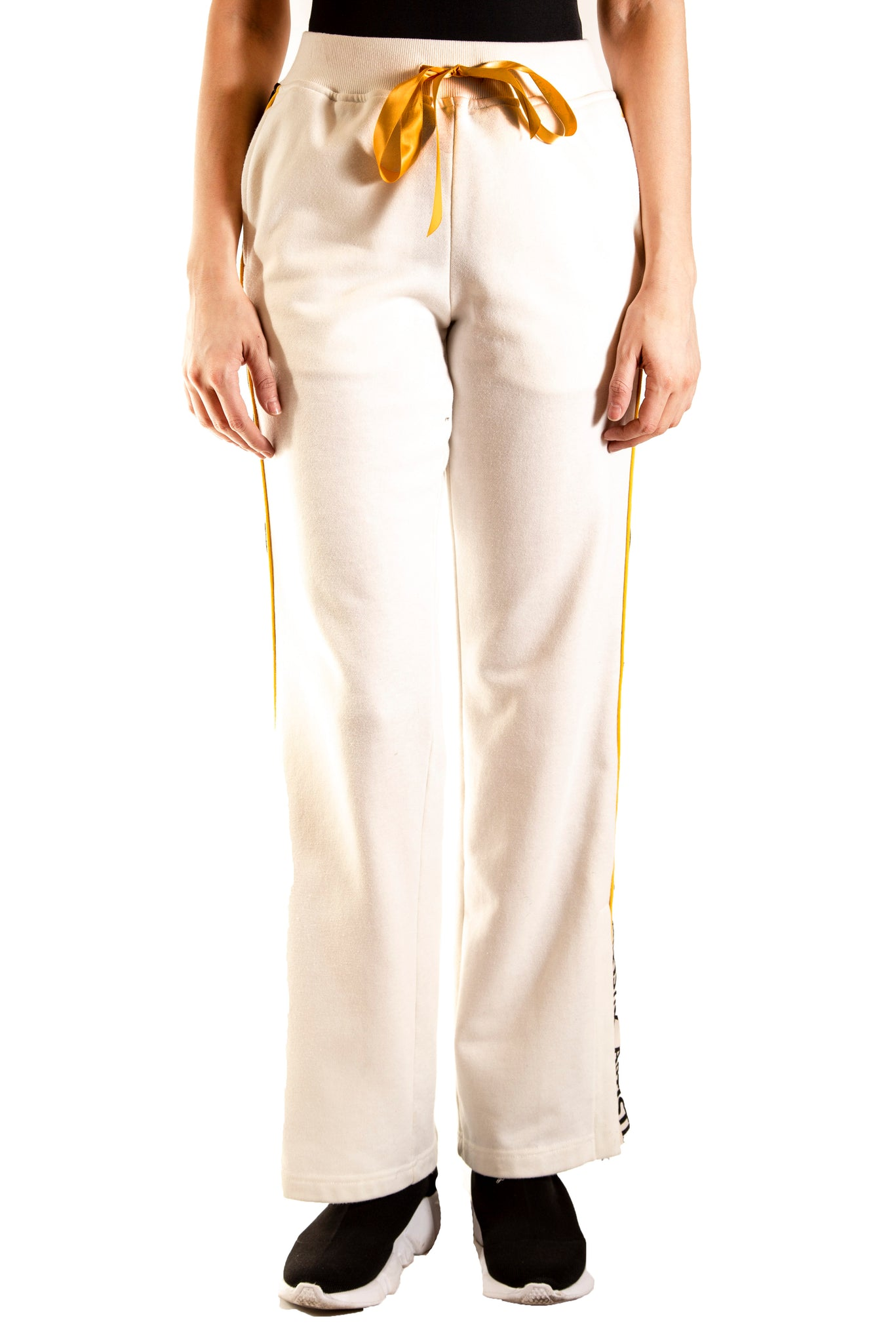 French Terry Track Pants - White