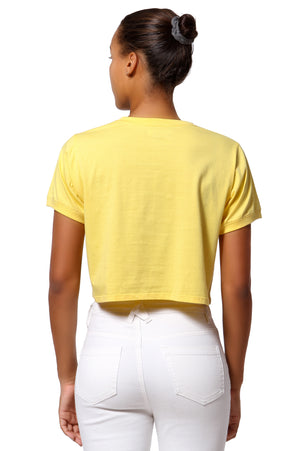 Block Logo Cropped Tee - Yellow