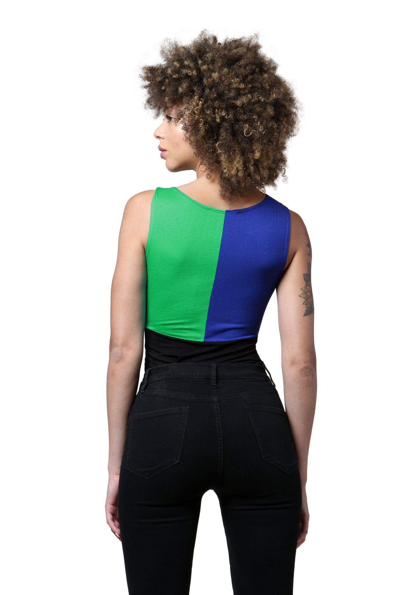 Color Blocked Bodysuit