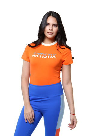 T-Shirt Bodysuit - Orange