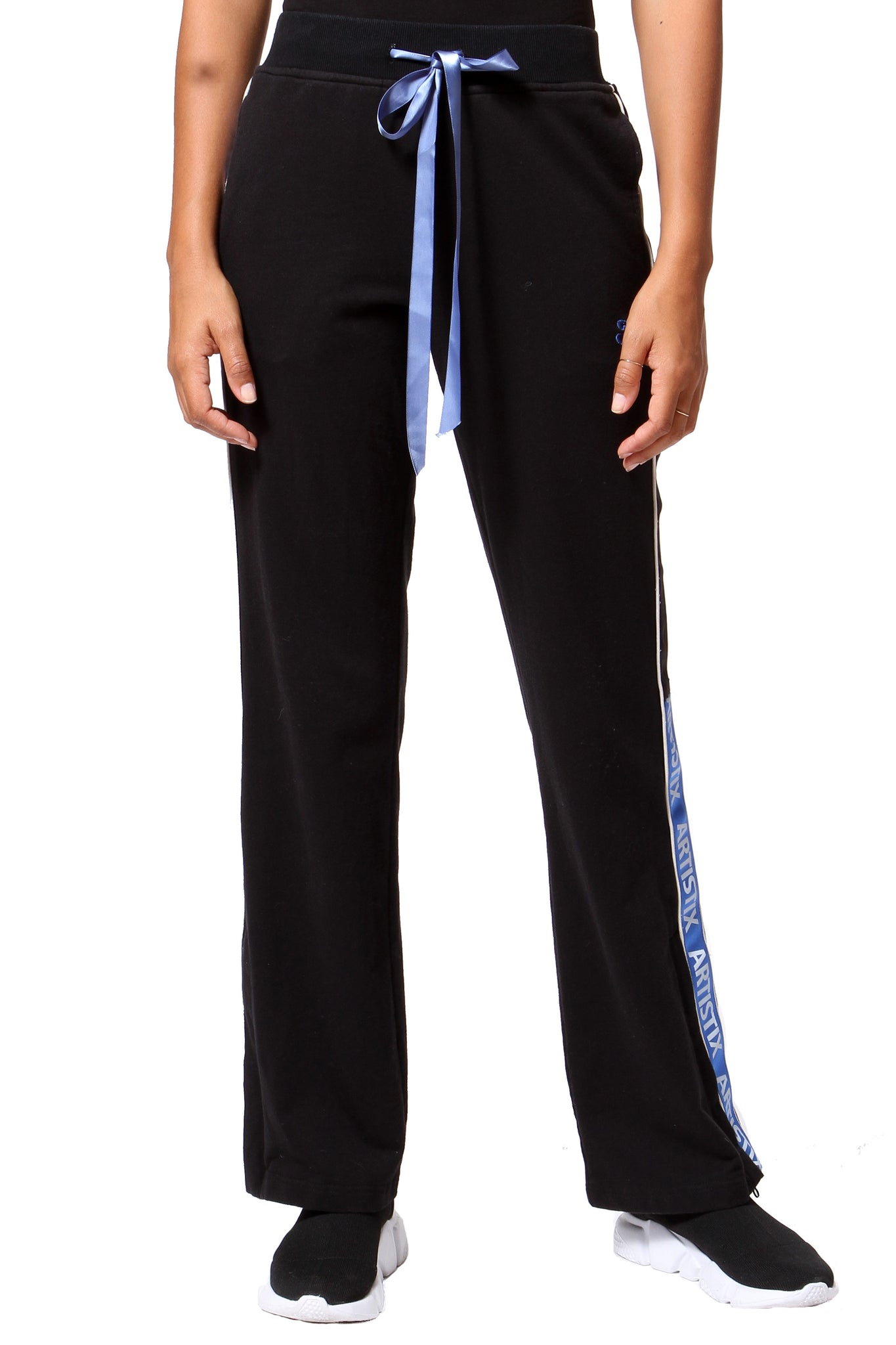 French Terry Track Pants - Black