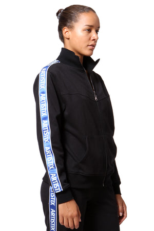 French Terry Track Jacket - Black