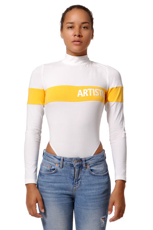 Graphic Bodysuit - White