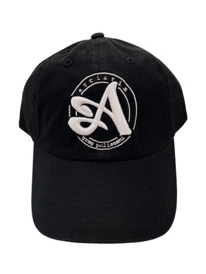 Dad Hat with 3D Embroidery - Black