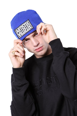 "Mirror Patch 8"" Beanie - Royal Blue"