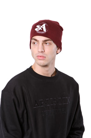 A Circle 3D Embroidered Beanie - Various Colors