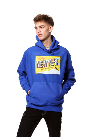 Greetings From New York Hoodie - Royal