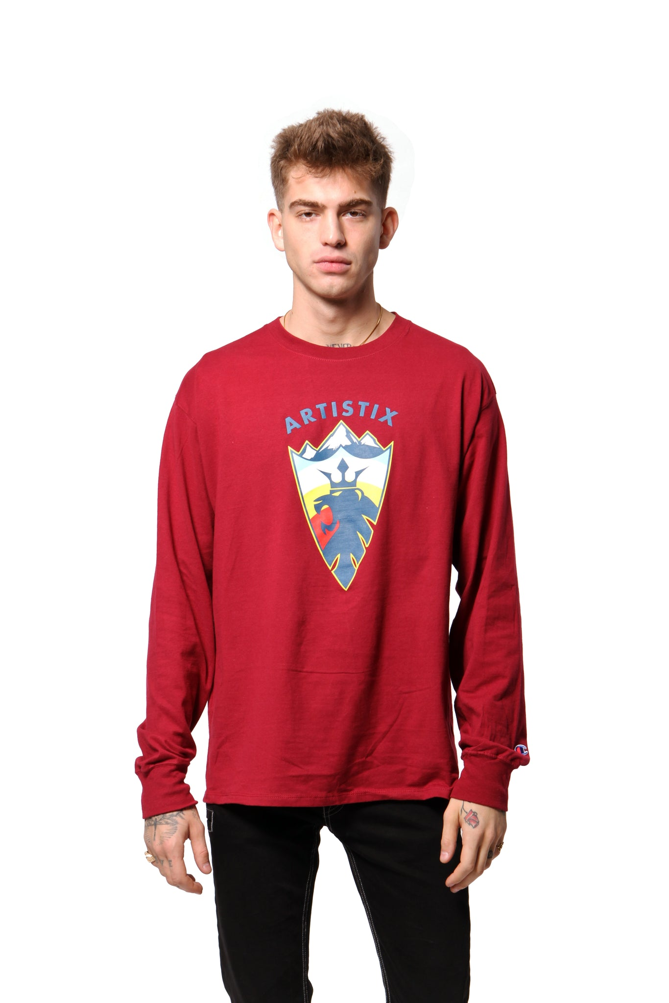 Mountain Lion L/S Tee - Cardinal