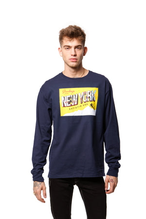 Greetings from New York L/S Tee - Navy