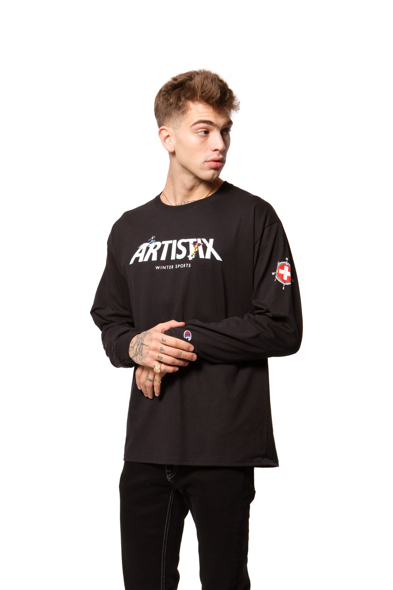 Winter Sports L/S Tee - Black