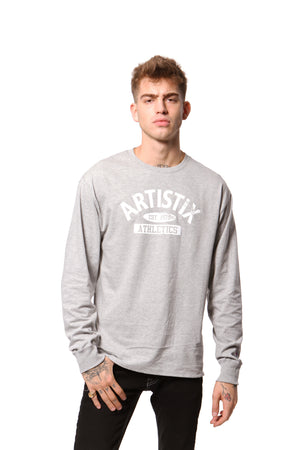 Artistix Athletics L/S Tee - Heather Gray