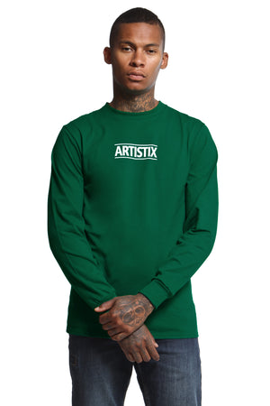 Block Logo Core L/S Tee - Dark Green