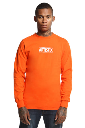 Block Logo Core L/S Tee - Orange