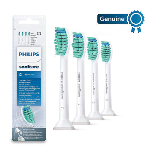 Philips Sonicare HX6014/26 Pro Results Brush Heads, White, Pack of 4
