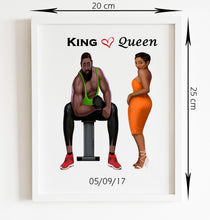 Load image into Gallery viewer, King and Queen Personalised Custom Frame