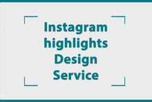 Load image into Gallery viewer, Instagram highlights design service