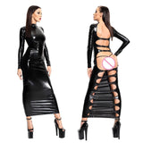 Sexy Women Black Long Dress - Fetish Shop USA