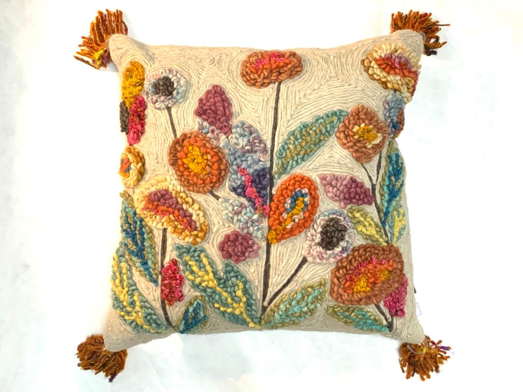 'Pipp' embroidered cushion