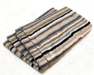 Multi Stripe Towel Guest Natural