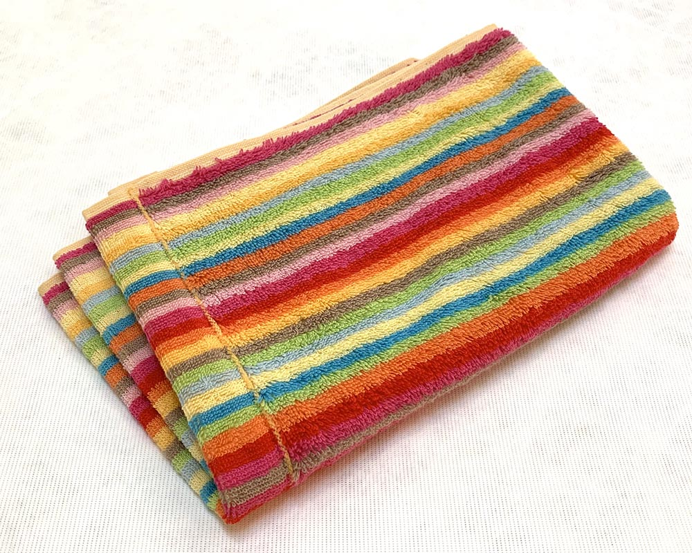 Multi Stripe Towel Guest Bright