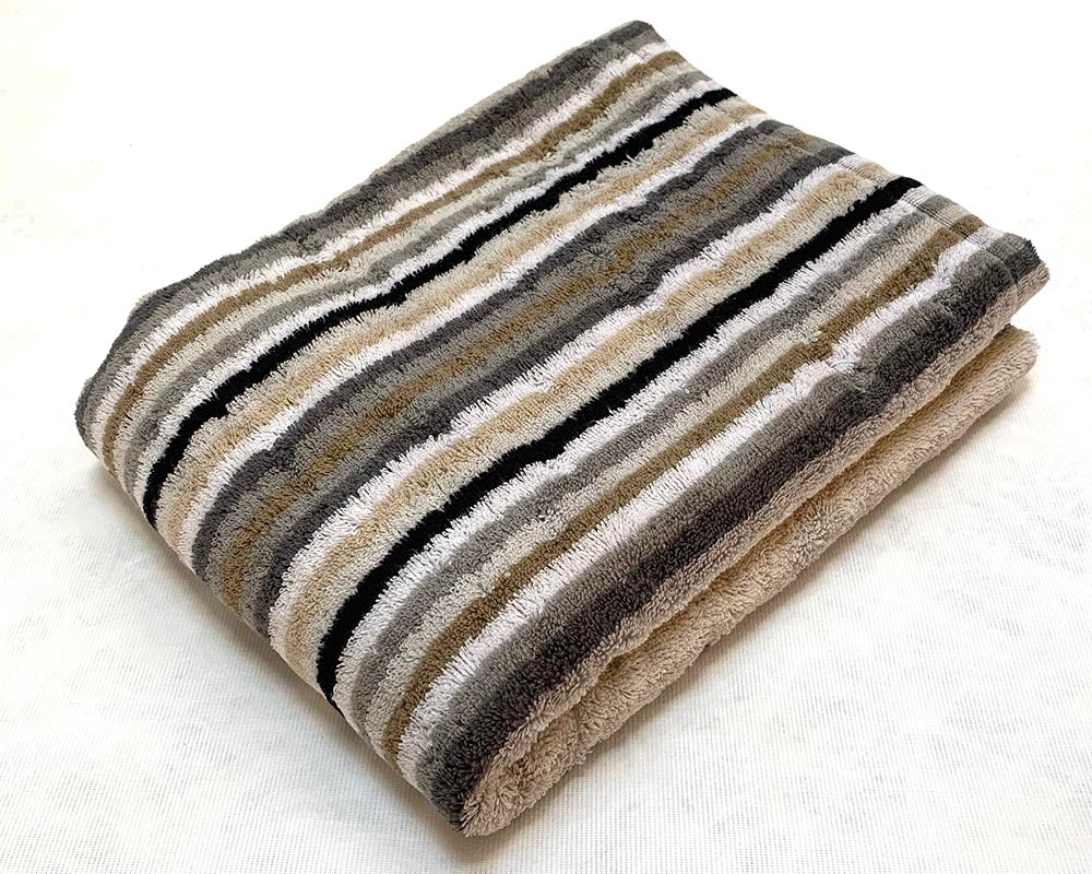 Multi Stripe Towel Bath Natural