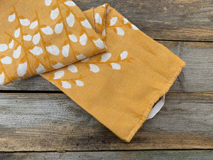 Buds Square Tea Towel Yellow