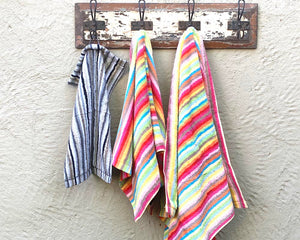 Multi Stripe Towel Hand Bright