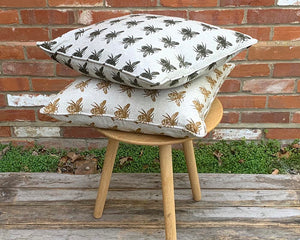 Bee Cushion Olive