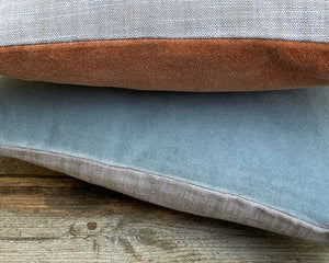 Matt Velvet Cushion Blue