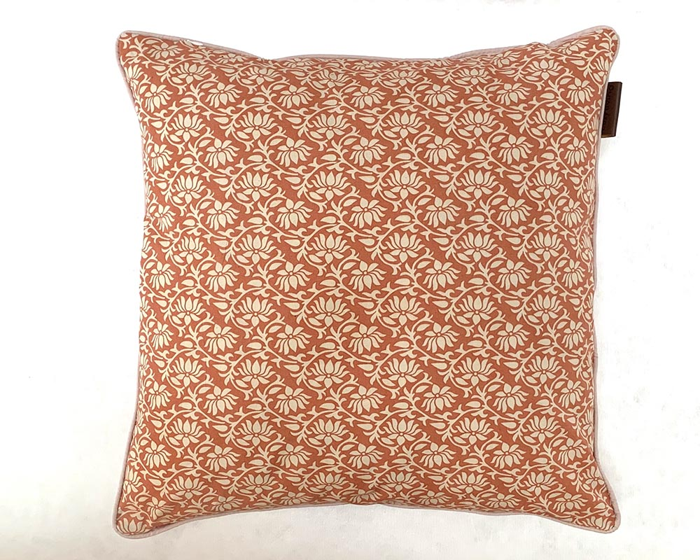 Morrisey Print Cushion Orange