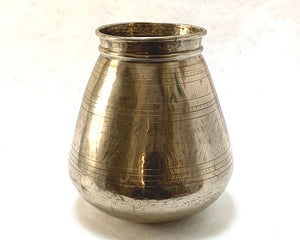 Etched Metal Pot