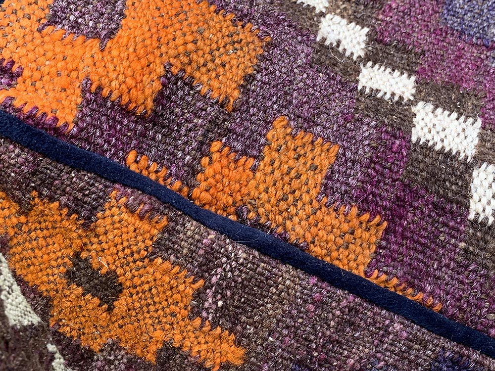 Kilim Floor Cube Deep Colours