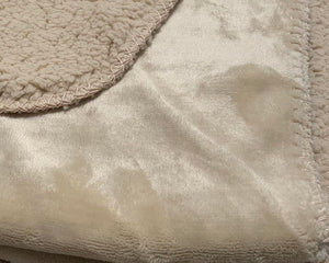 Super Soft Velvet Cosy Throw Natural