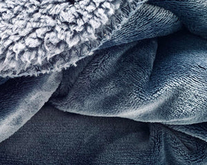 Super Soft Cosy Velvet Throw Navy