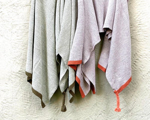 Tassel Throw Coral