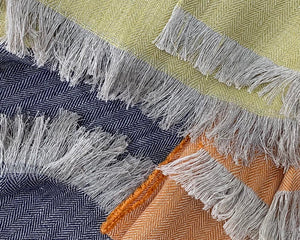 Irish Linen Throw Mustard