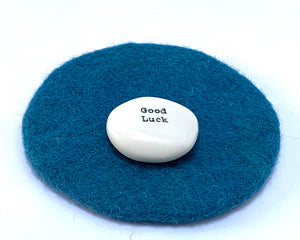 Porcelain Pebble Good luck