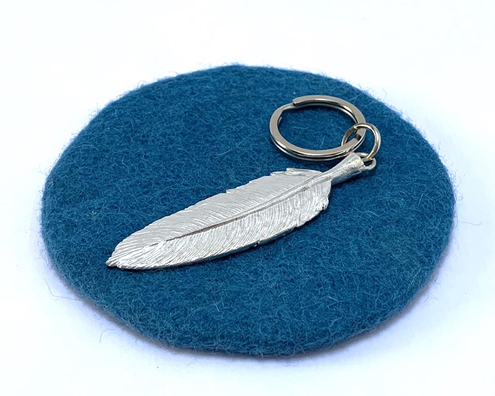 Feather Key Ring