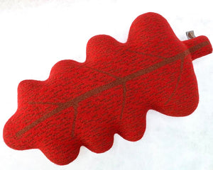 Fine Lambswool Leaf Cushion