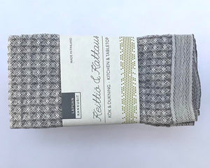 Linen mix dishcloth grey