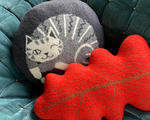 Fine Lambswool Cat Cushion