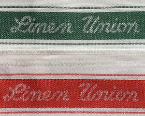 Linen Union Tea Towel Red