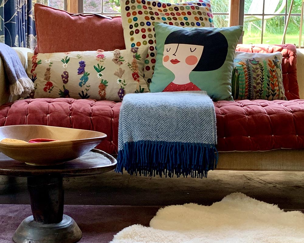 Cotton Print Cushion Girl