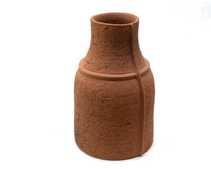 Terracotta Seamed Vase