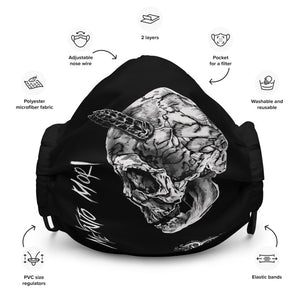 Memento Mori Black Skull Dark Art face mask
